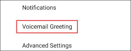 Voicemail-Einstellungen auf Google Pixel.