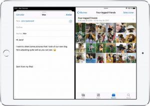 geteilter Bildschirm iPad 2